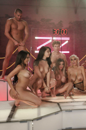 In the house of Brazzers again the competition, for the time you have to fuck as many guys as you can, good luck girls!
