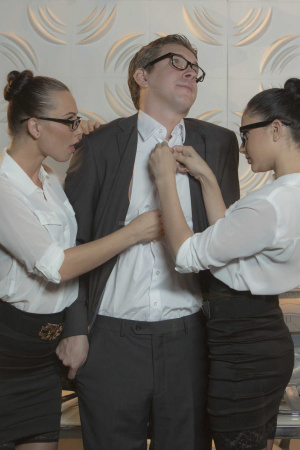 Pretty crossdressing sissy strap on fucked girlfriend
